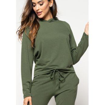 Casaco  Comfy Com Capuz Moletinho Verde